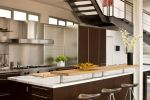 Open Kitchen Design with Colorful Decoration