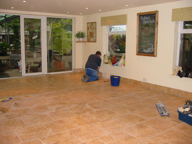 kitchen floor tiling examples