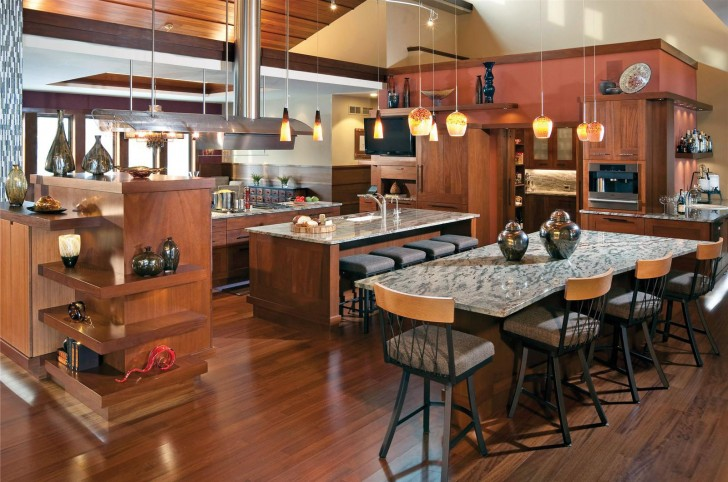 open kitchen and dining room design (13)
