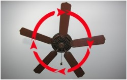 ceiling fan rotation for heat