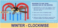 change ceiling fan rotation direction