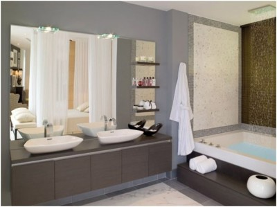 Contemporary Small Bathroom (1)