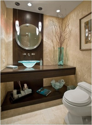 Contemporary Small Bathroom (8)