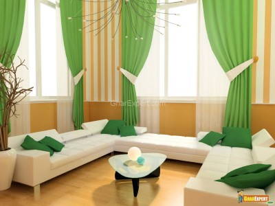 Living Room Curtains Decorations Ideas (3)