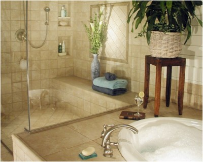 Contemporary Small Bathroom (7)