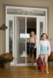 odl retractable screen double door