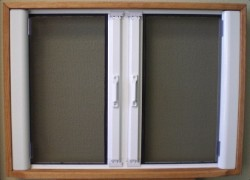 retractable sliding screen door
