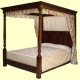 fwooden four poster beds