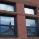 black double glazed aluminium windows