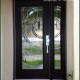 black modern glass doors